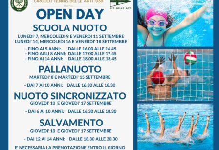 open day piscina locandina