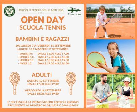 open day tennis locandina