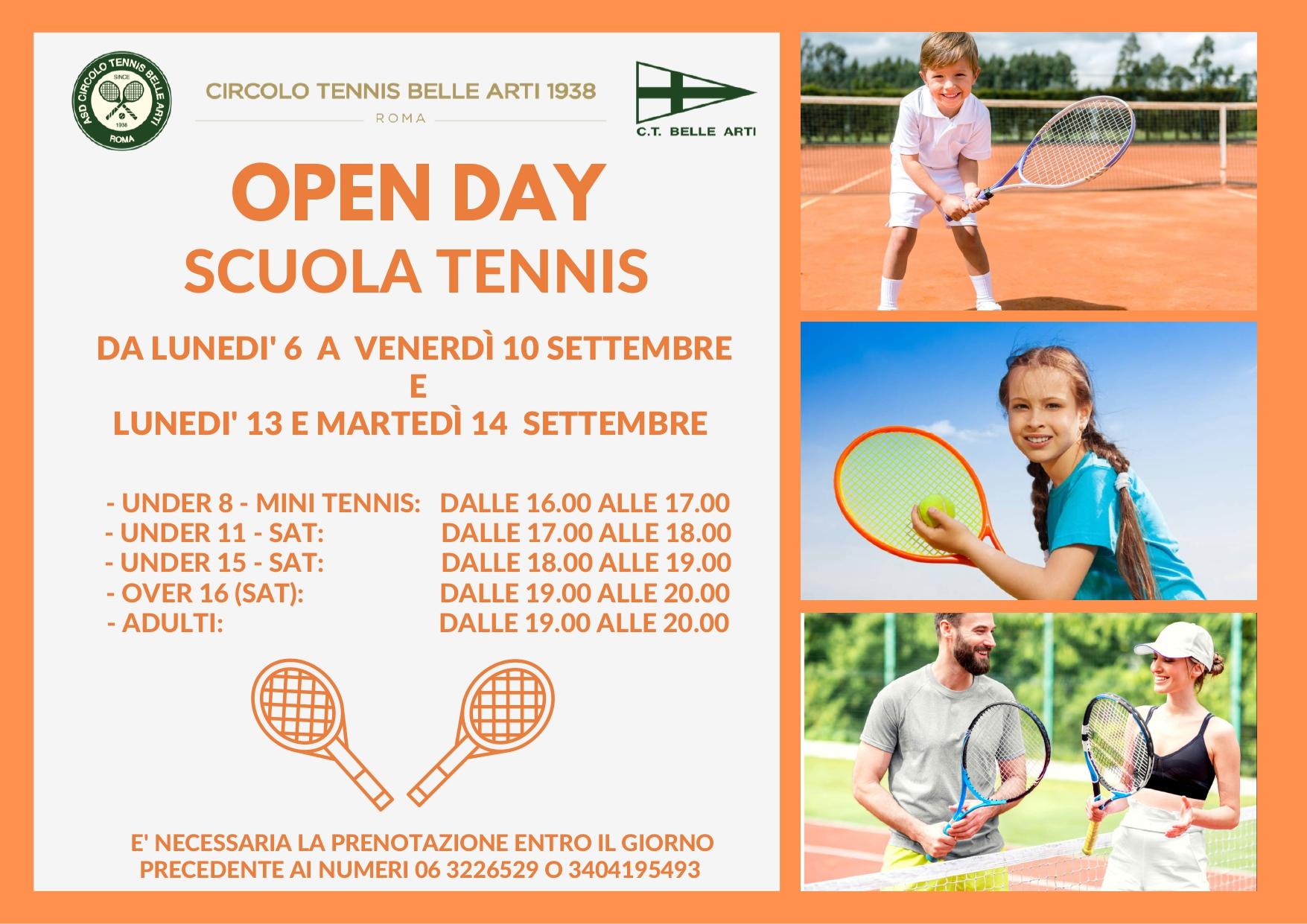 Open Day Scuola Tennis