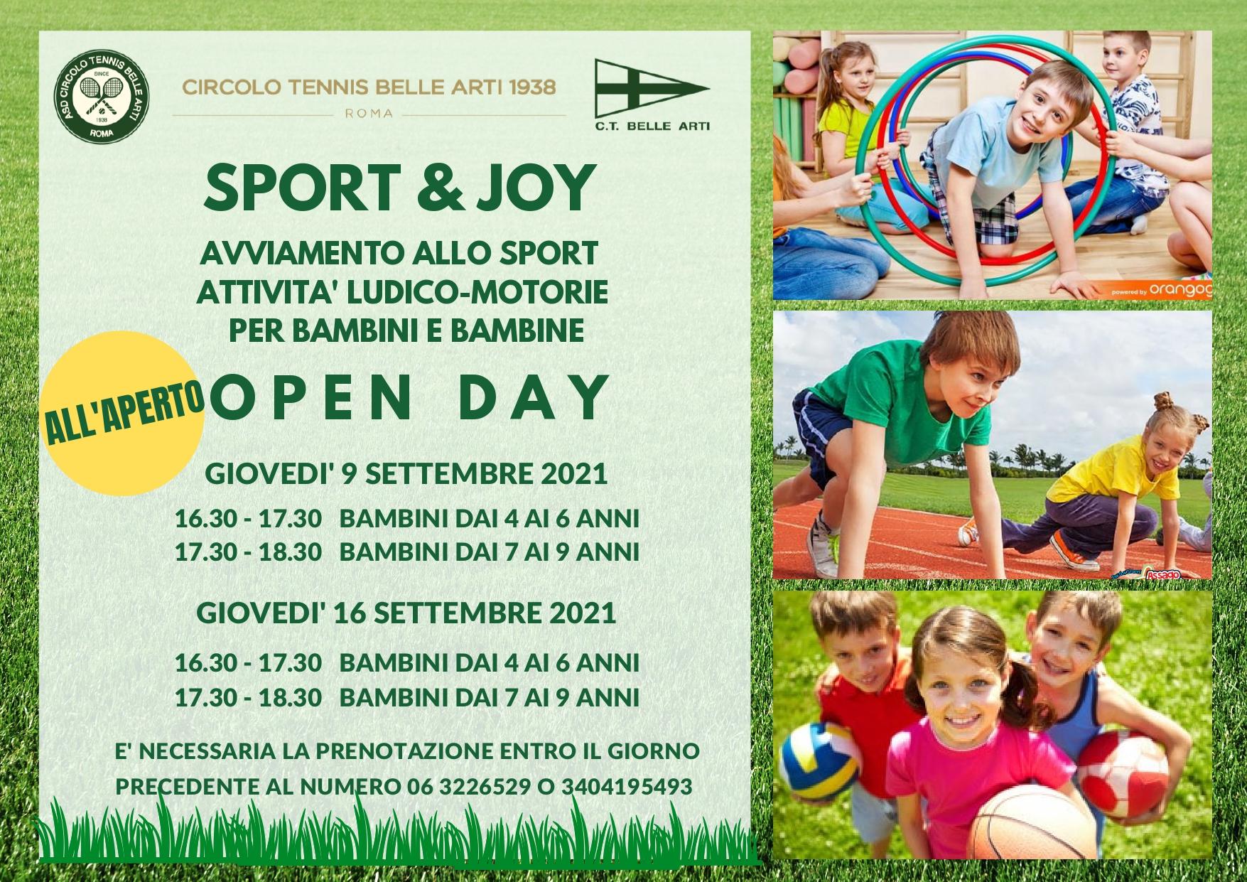 Open Day Sport & Joy